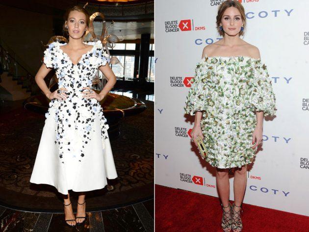 Blake Lively and Olivia Palermo rocking floral applique dresses.