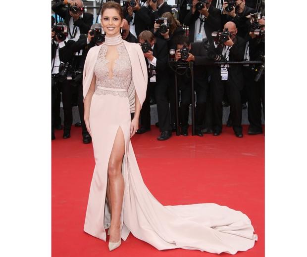 Cheryl Fernandez Versini wearing Ralph & Russo at Cannes
