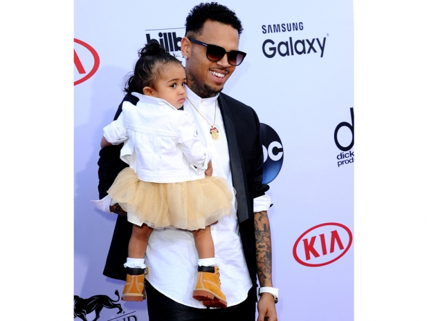 Chris Brown and daughter Royalty at the Billboard Music Awards