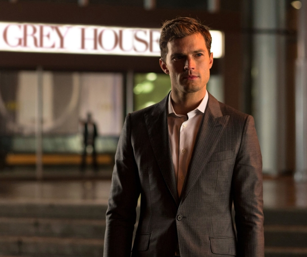 Jamie Dornan as the clean-shaven Christian Grey in 50 Shades Of Grey