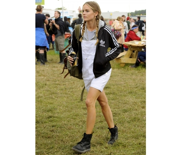 Cressida Bonas at Glastonbury festival last year