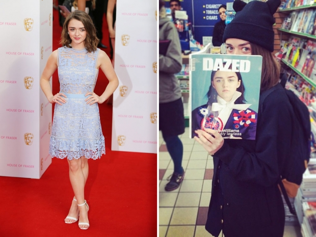 Maisie Williams in Self-Portrait and on Instagram