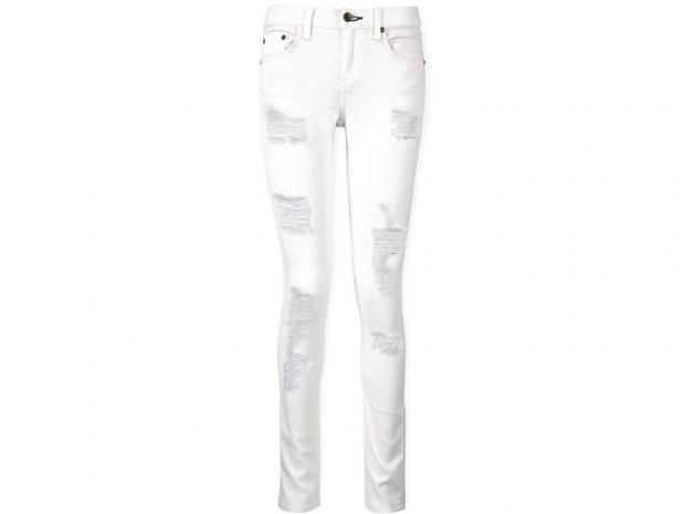 Rag & Bone Dre Girlfriend Distressed Shredded Jeans