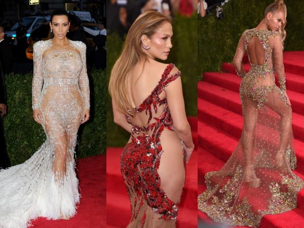 Kim Kardashian, Jennifer Lopez and Beyonce at the Met Gala 2015