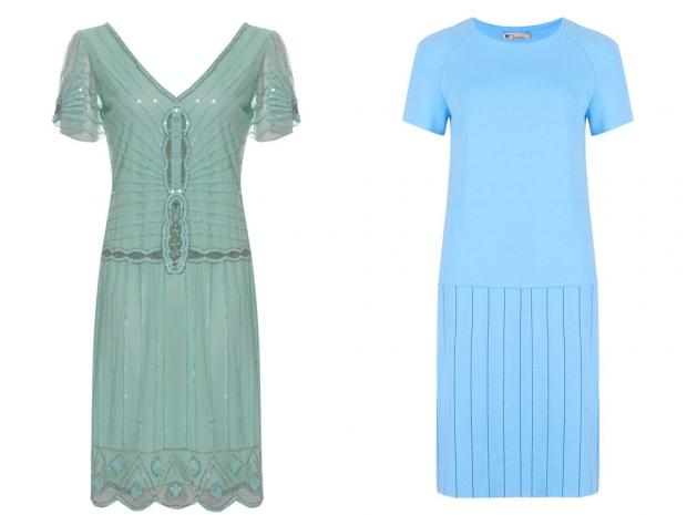 Little Black Dress Flapper Dress, £79 & M&S Dress, £59