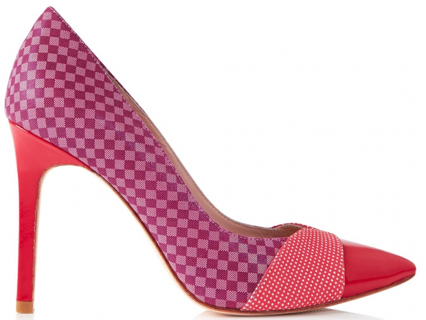 Lucy Choi Cupid Polka Dot and Check Court Shoes