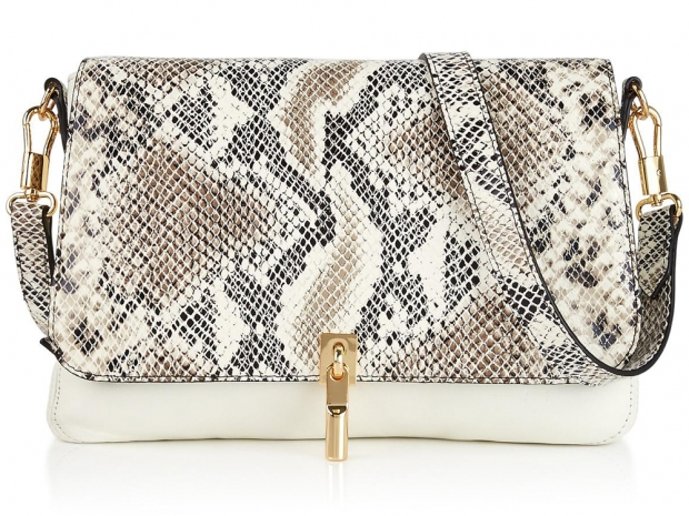 Elizabeth and James Cynnie Snake-Effect Cross-Body Bag