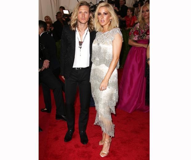 Ellie Goulding and Dougie Poynter at met gala 2015