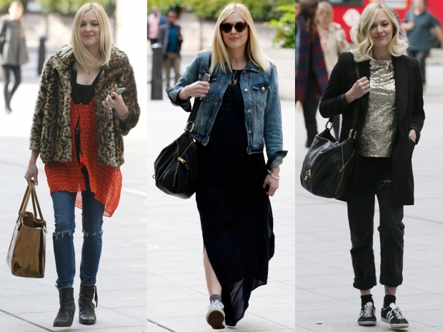 Fearne Cotton showing off her maternity wear credentials