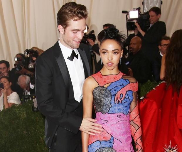 FKA Twigs and Robert Pattinson at met gala 2015