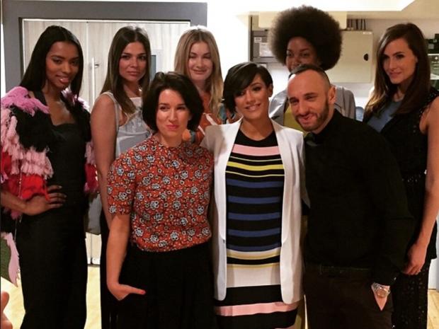 Frankie Bridge poses with the Lorraine crew in Instagram photo