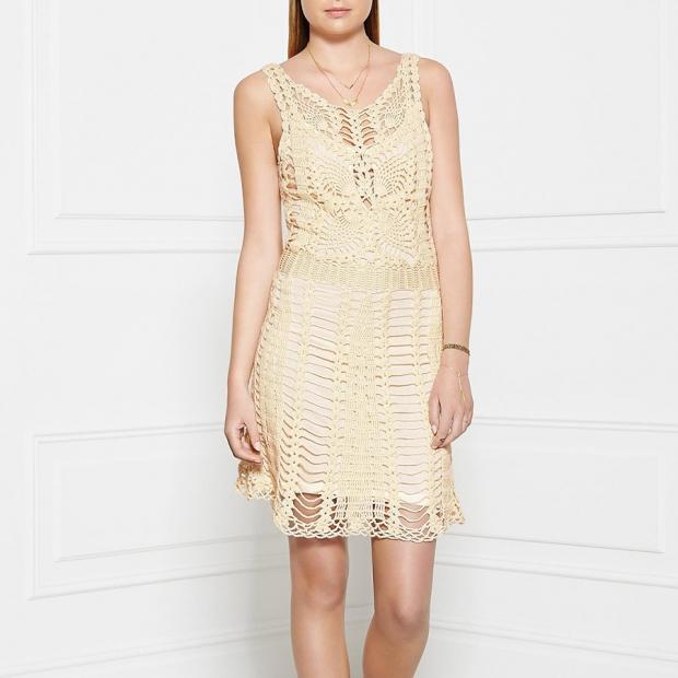 Free People Macrame Mini Crochet Dress – Ivory