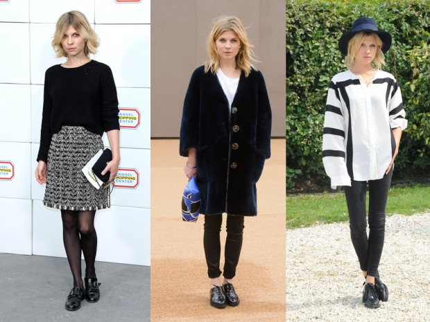 French fashion girls like Clemence Poesy love their flat shoes