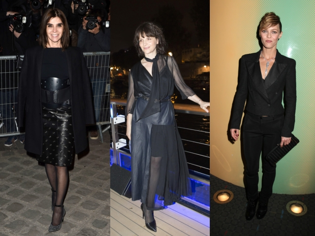 French fashion often calls for an all-black look