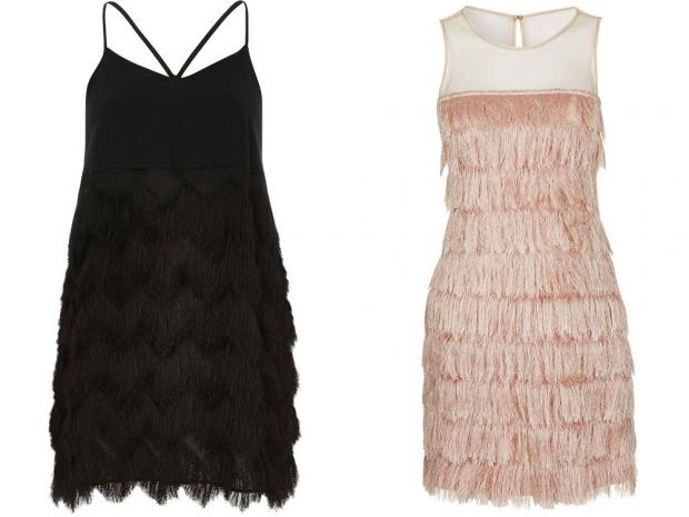 River Island Dress, £42 & Topshop Fringe Dress, £42
