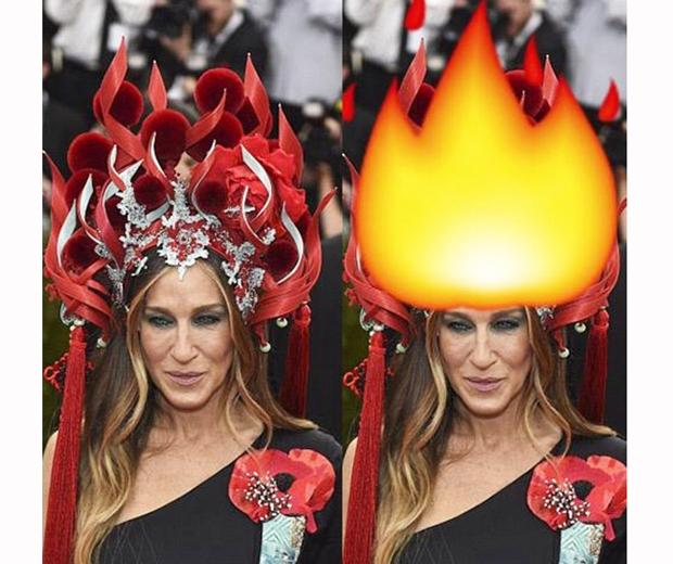 sarah jessica parker met gala 2015 meme