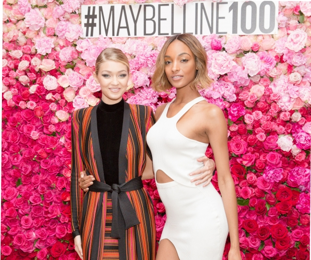 Gigi Hadid and Jourdan Dunn at Maybelline s 100th Birthday Party