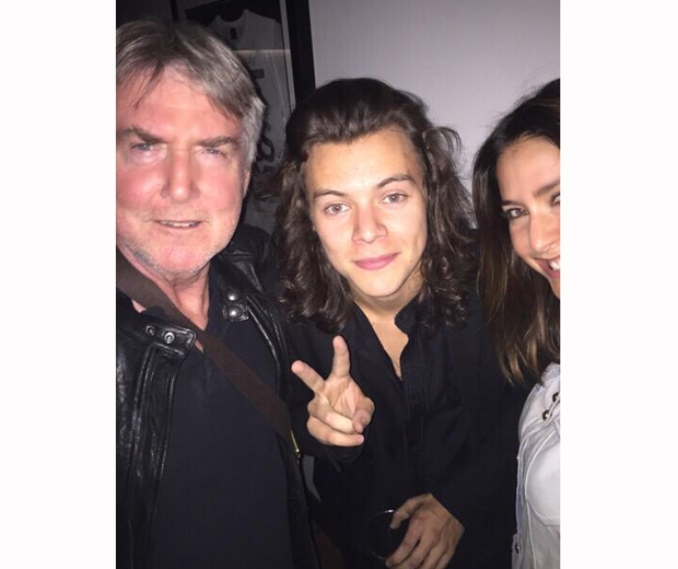 Harry Styles and Lisa Snowden at fleetwood mac gig