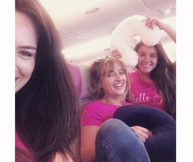 Michelle Keegan's hens share a cheeky on-place selfie