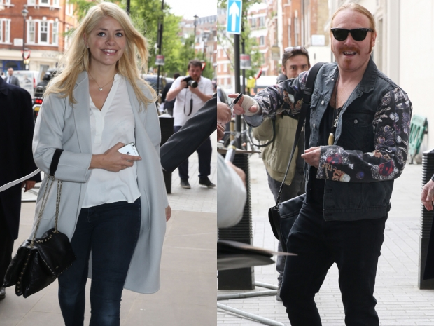 Holly Willoughby and Keith Lemon arrive at the Radio 1 studios