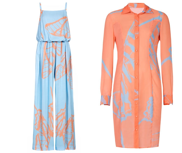 Jumpsuit, £190 and Shirt Dress, £160