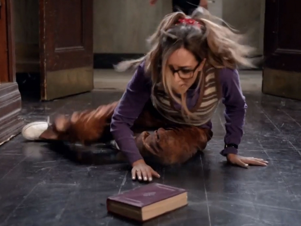 Jade Thirlwall falling over in the video for Black Magic