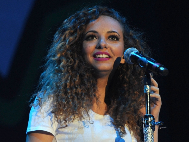 Jade Thirlwall with her naturally curly hair