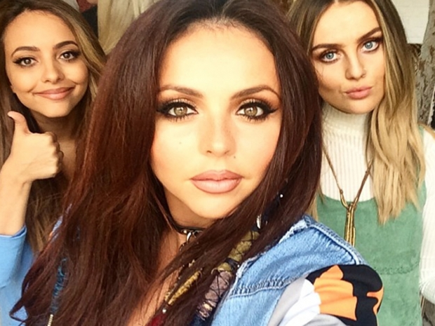 Jade Thirlwall, Jesy Nelson and Perrie Edwards filming in Instagram photo
