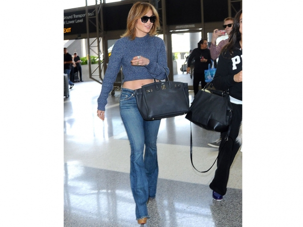 Jennifer Lopez strolling through LAX airport