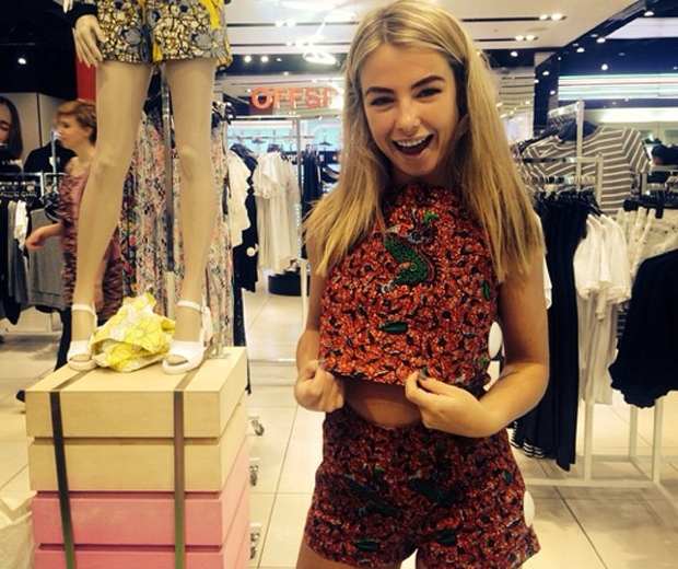 made in chelsea's jess woodley in topshop co ord