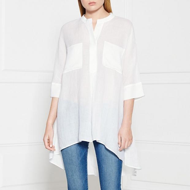 Joseph Ramie Voile Shirt – White