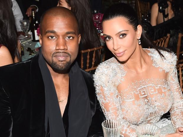 Kanye West and Kim Kardashian at the 2015 Met Gala