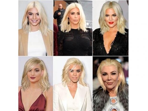 kardashian sisters with fake blonde hair