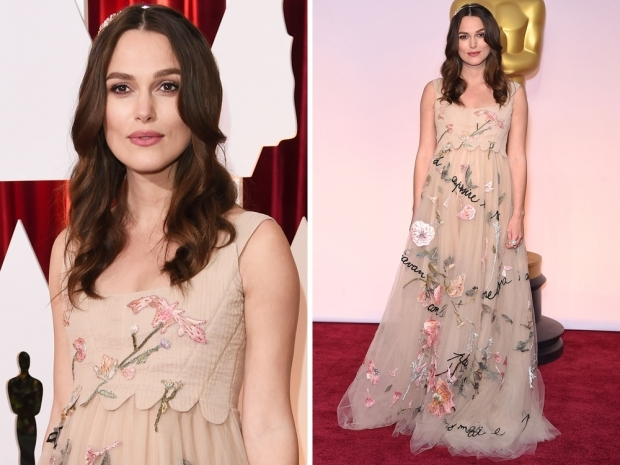 Keira Knightley's floral Valentino Oscars frock pregnant