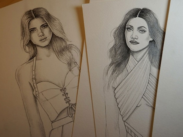 Sketches posted to Kendall and Kylie Jenner's new Instagram page
