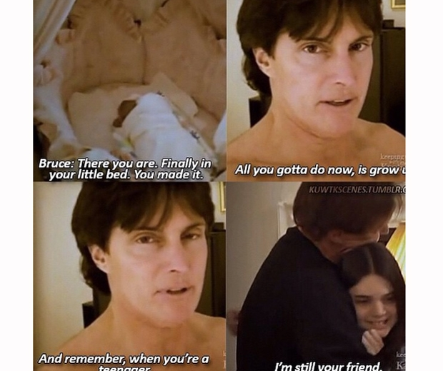 Kendall Jenner posts a cute tribute to her stepdad Bruce Jenner on Instagram