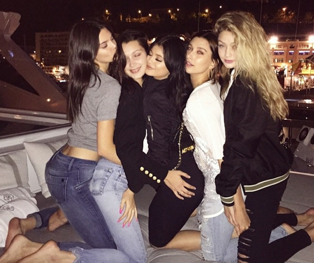 kendall and kylie jenner on yacht in monaco