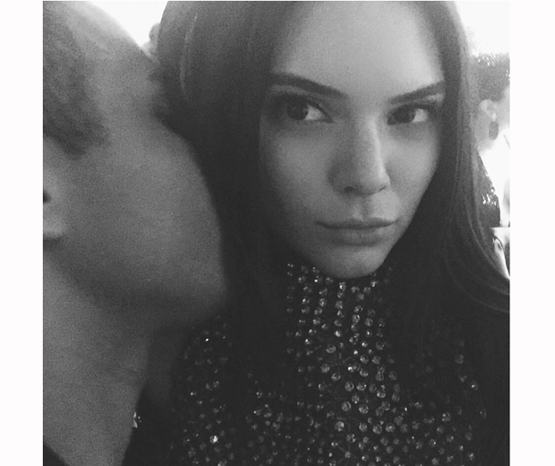 Kendall Jenner and Olivier Rousteing take a selfie at the Met Gala 2015