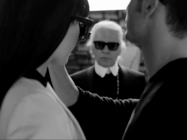 Kendall Jenner in behind the scenes video from Karl Lagerfeld's eyewear campaign