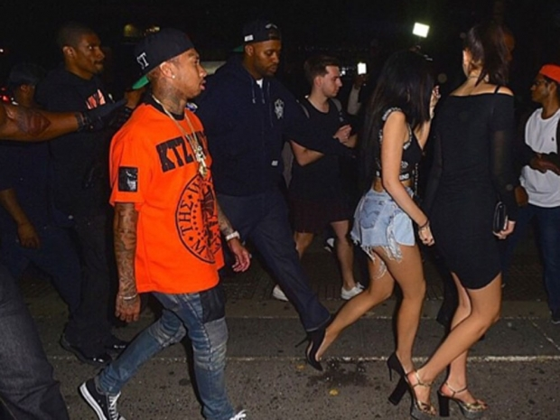 Kendall and Kylie partied with Tyga in New York