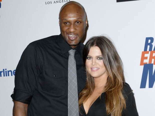 Khloe Kardashian with Lamar Odom before she filed for divorce
