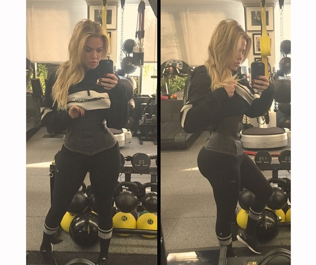 khloe kardashian waist training corset