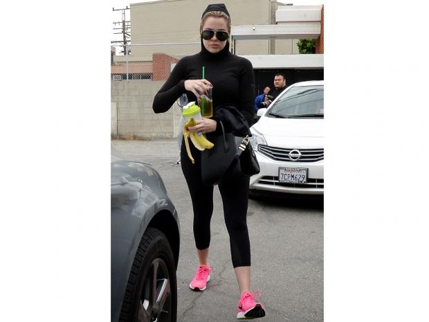 Khloe Kardashian wears her hood up as she heads to a salon in LA