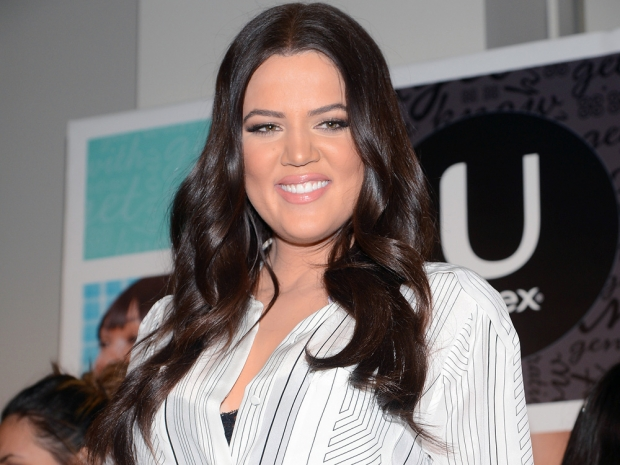 Khloe Kardashian with brown hair in 2013