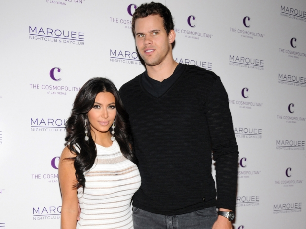 Kim Kardashian and Kris Humphries when they were married