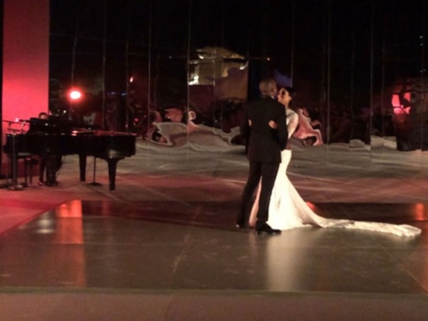 Kim and Kanye's first dance video