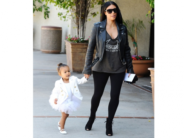 Kim Kardashian takes her daughter North West to her ballet class