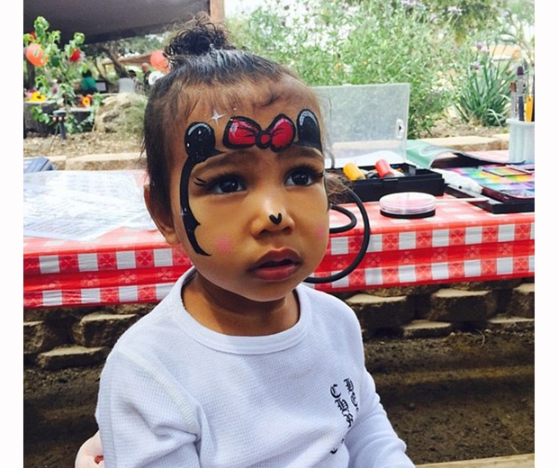 north west with facepaint on