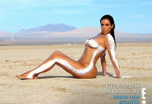 kim kardashian naked desert shoot