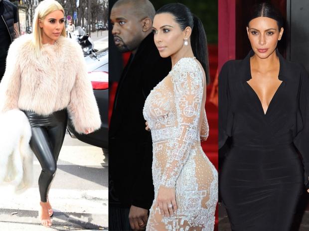 Kim Kardashian at Paris Fashion Week and on the carpet at the Met Gala 2015